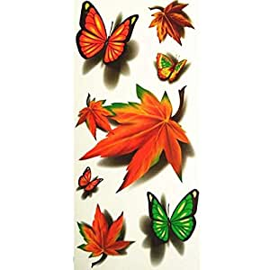 Waterproof Butterfly Design Temporary Tattoo