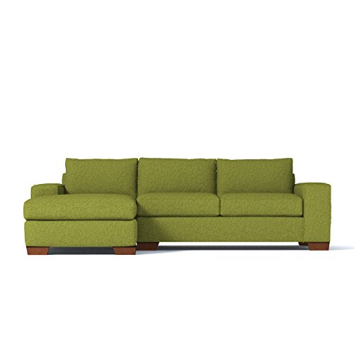APT2B Melrose 2-Piece Sectional Sofa, Green Apple, LAF - Chaise on Left