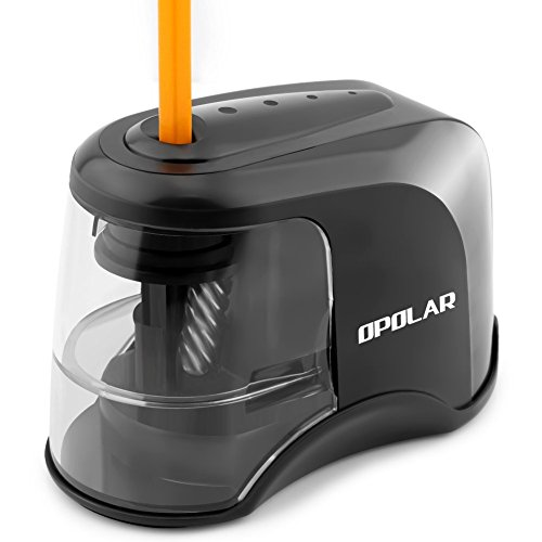 OPOLAR Electric Pencil Sharpener, USB or AC or Batteries Operated (not included), Ideal for No. 2 and Colored Pencils (6.5-8 mm),Heavy-duty Helical Blade, Perfect for Student, Artist by OPOLAR