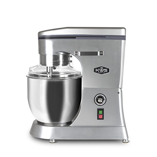 KWS M-B12 Commercial 1400W Stand Mixer, 12 Quarts Silver Heavy-Duty for Restaurant/Bakery/Tea Shop/Coffee Shop