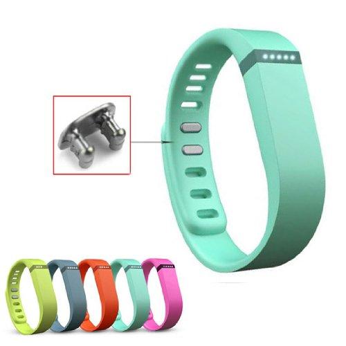 Aktivität- und Schlaf-Armband Ersatzarmband für Fitbit Flex mit Clasp ohne Tracker Groß/Klein (Large, Teal) SportsCentre MF-UNI178