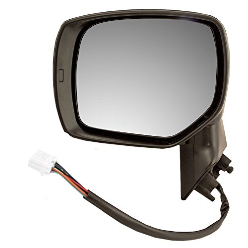 Drivers Power Side View Mirror Heated Ready-to-Paint Replacement for Subaru Forester 91036SG321 91059AJ210 (Subaru Forester Driver Mirror)
