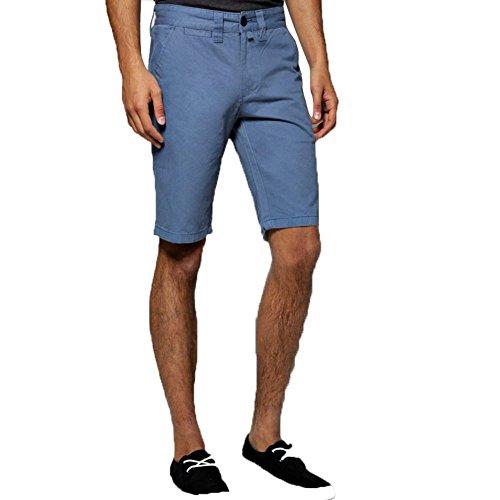 Janisramone-Mens-Boys-New-Casual-Plain-Chino-Shorts-Cotton-Summer-Over-Knee-Side-Pocket-Cargo-Half-Pants