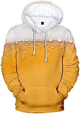 Cool Hoodies,Men Plus Size Fashion Printed Zipper Pullover Long Sleeve Sweatshirt Tops Blouse for Men Teen Boys