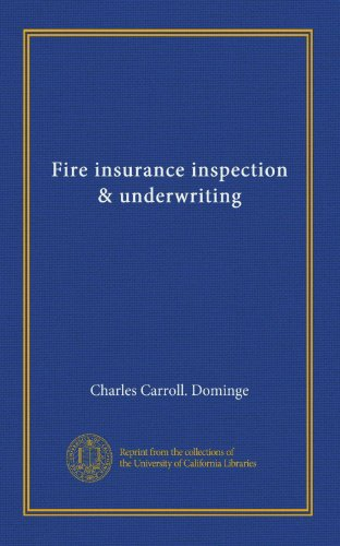 Download Fire insurance inspection & underwriting Pdf