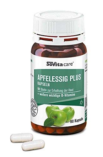 Apfelessig plus Kapseln | mit Biotin und Folsäure | ascopharm | 90 Kapseln