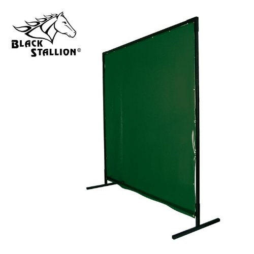 Revco 6X10VF1-GRN 6'X10' 14mil. 1 Panel Green Saf-Vu Welding Screen with Frame