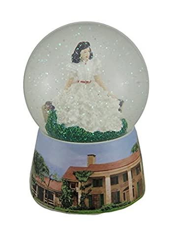 Gone With The Wind Scarlett In White Dress 100MM Snow Globe Waterball