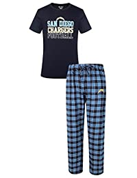 "San Diego Chargers NFL ""Medalist"" Men's T-shirt & Flannel Pajama Pants Sleep Set"