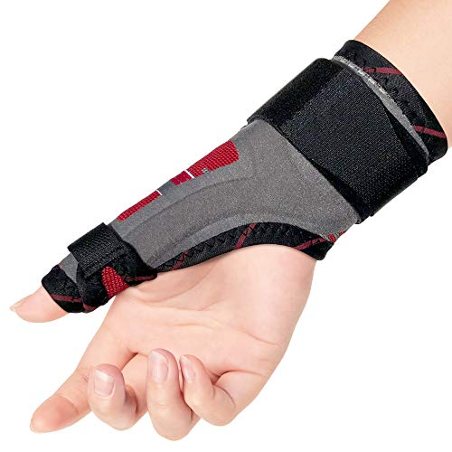 ORTONYX Thumb Immobilizer Brace Thumb Spica Support Splint- Arthritis, Pain, Sprains, Strains, Carpal Tunnel & Trigger Thumb Stabilizer - Wrist Strap - Left or Right Hand ()