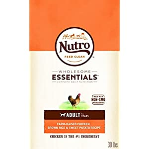 NUTRO WHOLESOME ESSENTIALS Natural Adult Dry Dog Food Farm-Raised Chicken, Brown Rice & Sweet Potato Recipe, 30 lb. Bag 29