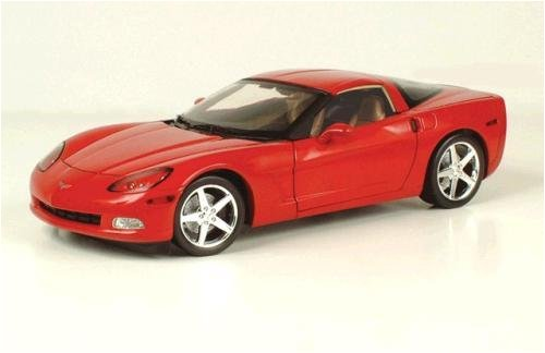 2005 Chevrolet Corvette C6 Coupe diecast model car 1:18 scale die cast by AUTOart - Red 71226 (C6 Diecast Car Model)