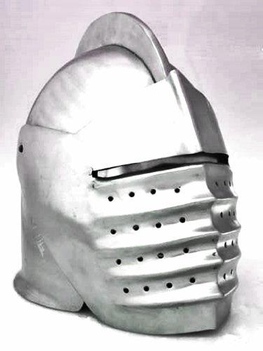 Helm Gladiator (Italian Closed Medieval Knight Helmet: Costume Helm Officer Fits Most)