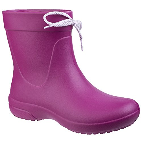 Crocs Women Freesail Shorty Rain Boots Berry