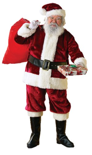Rubie's Crimson Regency Santa Suit, Red/White, X-Large (Santa Regency Suit)