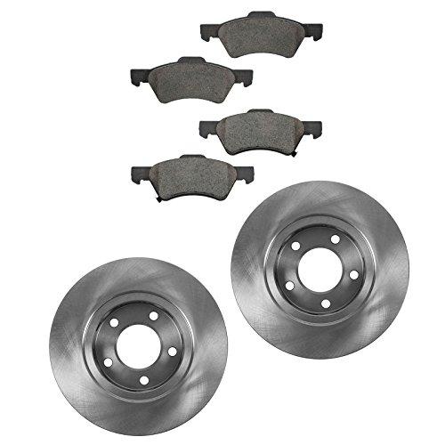 Brake Pad & Rotor Kit Ceramic Front for Grand Caravan Town & Country