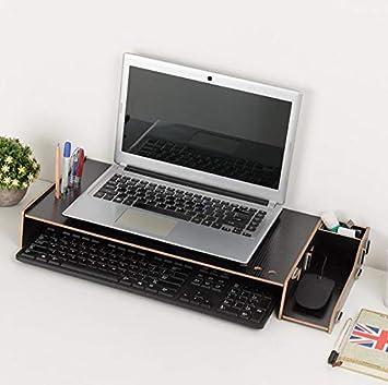 Soporte de Madera para Monitor Lesfit, Organizador de Escritorio, para Oficina en casa,
