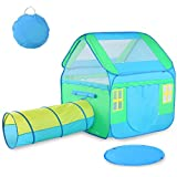 Large Kids Play Tent, Vbestlife Children Pop-Up Playhouse Tent (3pc) includes Playhouse, Tunnel and Playmat, Indoor Outdoor, with Anchors and Carrying Case- Christmas Birthday Gift for Boys Girls