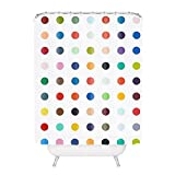 Polka Dot Curtains Colorful Polka Dots Polyester Fabric Bathroom Shower Curtain 60*72Inch