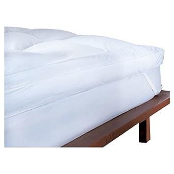 Euroquilt Pluma de Pato y Piumino-Topper colchón cómodo, tamaño Super King: Amazon.es: Hogar
