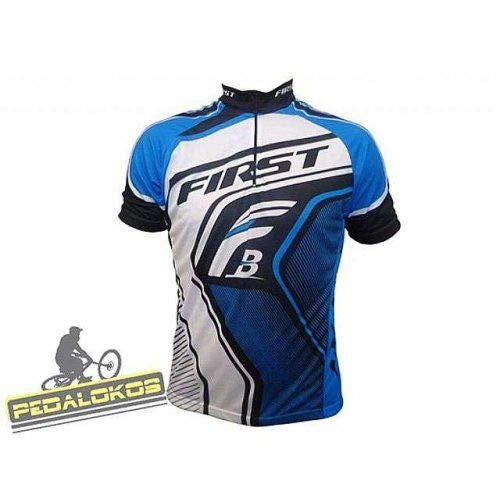 Camisa Ciclismo First Team Azul (P)