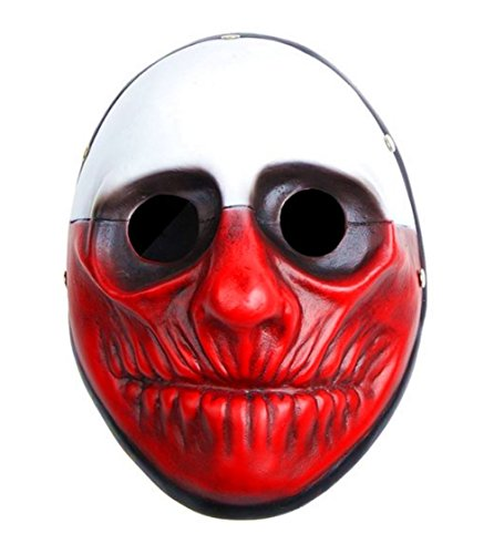 Payday 2 Wolf Costume (Payday 2 the Heist Wolf Mask Halloween Mask Collection Mask Wall Mask Party Props)