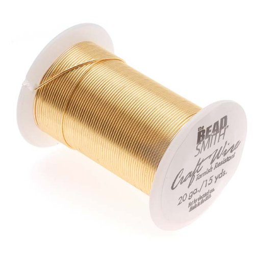 Tarnish Resistant Gold Color Copper Wire 20 Gauge 15 Yards (13.5 Meters) by Beadsmith