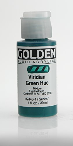 Golden Fluid Acrylic Paint 1 Ounce-Historical Viridian Green