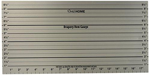 Dritz Home 44080 Drapery Hem Gauge, 18 x 9-Inch