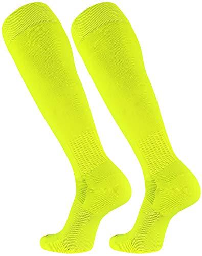 TCK Elite Finale Soccer Socks (Neon Yellow, Medium) ()