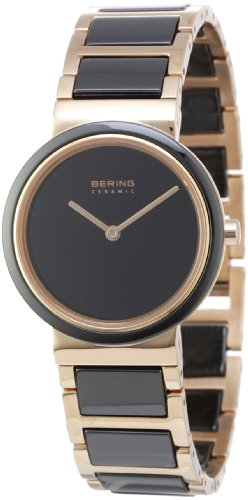 BERING Time 10729-746 Women's Ceramic Collection Watch with Ceramic Link Band and scratch resistant sapphire crystal. Designed in Denmark.