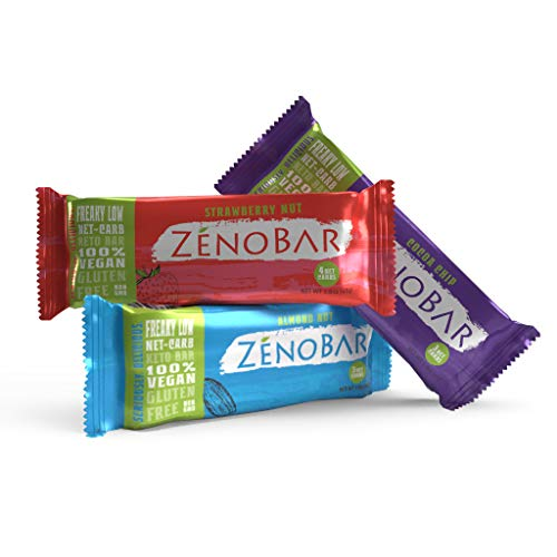 ZenoBar Keto Low Carb Energy Bar, 1.6 oz Variety, 12-Pack Vegan, Whole Foods, Low Glycemic, Perfect for Keto, Diabetic, and High Fat Diets