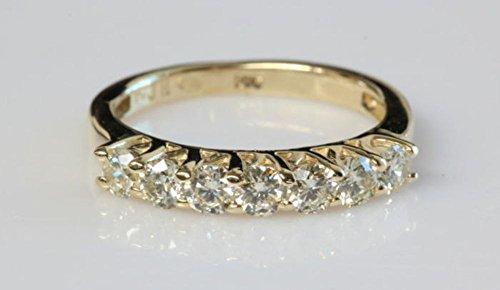 1/2 carat Eternity wedding band, Diamond wedding band, Diamond Engagement Ring, Anniversary present 14K Yellow Gold Ring