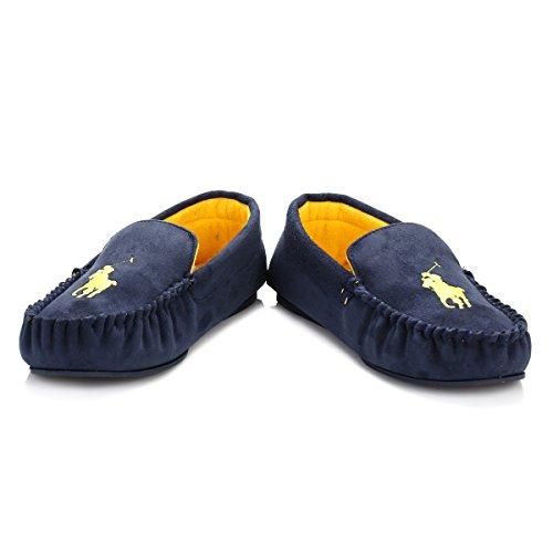 Dezi Uomo Homewear Oro Shoe Blu Ralph scuro Slipper Mocassino Lauren Polo Articolo Mocassino 992703 wqafWBqn