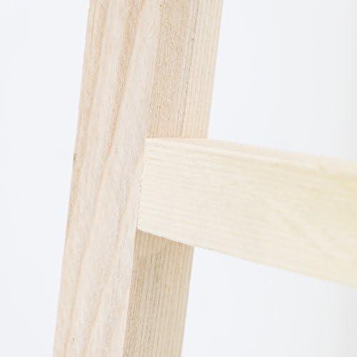 Decowood - Escalera de Madera Decorativa con 4 Peldaños, Madera Natural - 150x41 cm: Amazon.es: Hogar