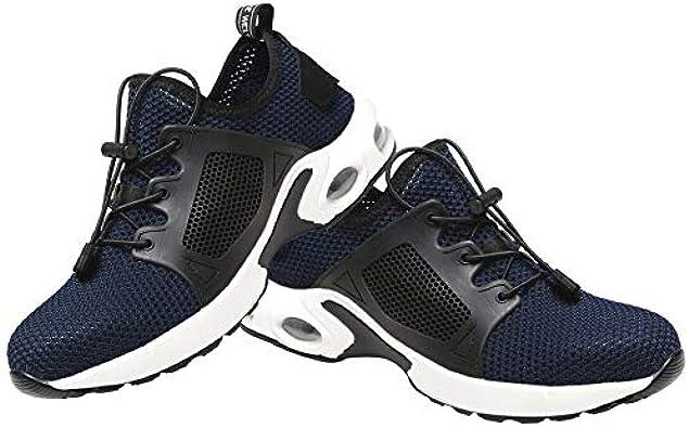 Zapatos de Seguridad Transpirables Trabajo a Prueba de pinchazos Deporte aéreo Zapatillas Deportivas duraderas Malla Vulcanize Botas para Hombres - Azul 44: Amazon.es: Zapatos y complementos