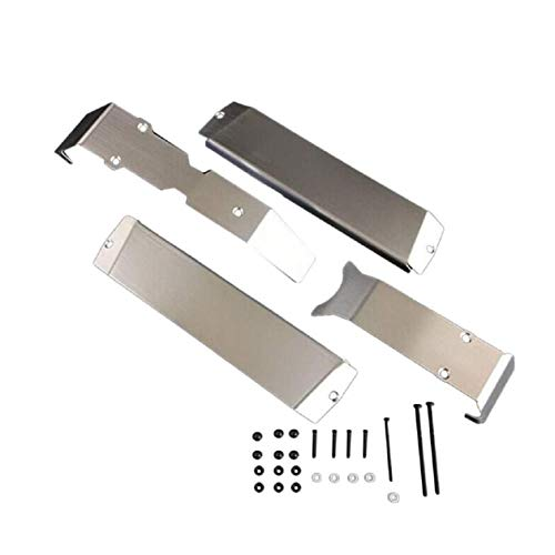 Armor Chassis Kit - Cinhent New Stainless Steel Chassis Armor Skid Plate Guard for 1/10 Traxxas ERevo E-Revo 2.0 RC Car Part Accessories