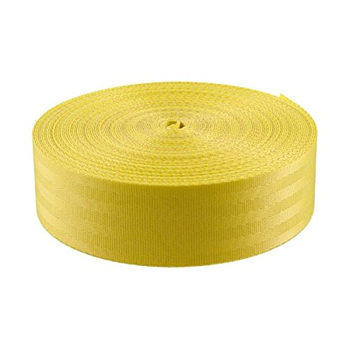 Yellow Polyester Webbing Closeout Yards