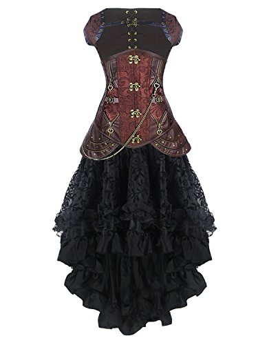 Burvogue Women's Steampunk Costume (XXX-Large, Picture27)