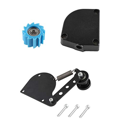 (sthus Silver Chain Tensioner Sprocket Clutch Cover For 49cc 66cc 80cc Motorized bike)