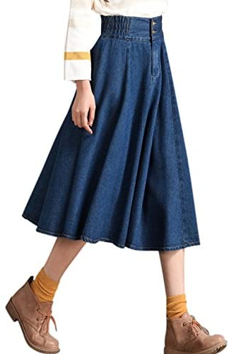 Tanming Womens Elastic Waist Pleated product image
