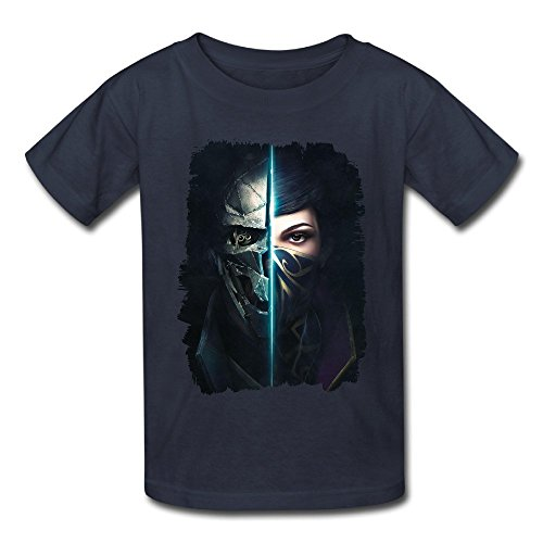 Price comparison product image Kazzar Kid's Dishonored 2 Mask Cover Art Round Collar T Shirt M