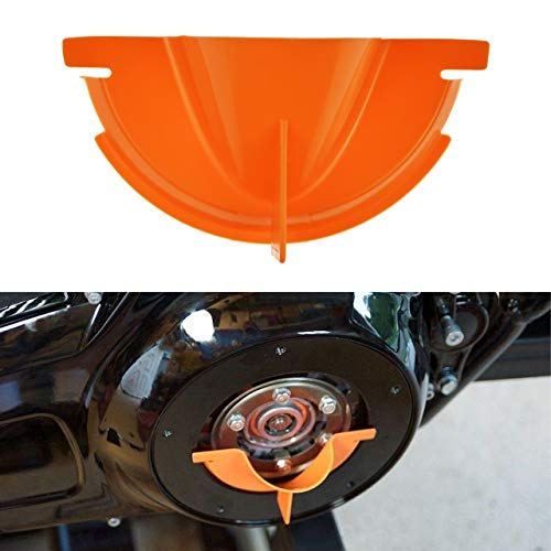 Rebacker Motorcycle Primary Case Plastics Primary Oil Fill Funnel for Harley Touring Trike Models 2006-2017 Dyna 2007-2018 Softail,Orange ()