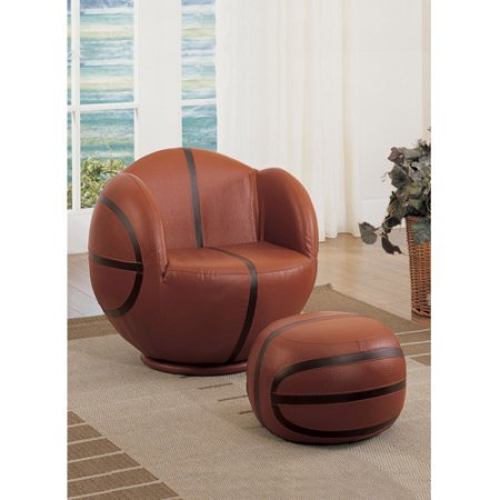ACME 2-Piece All Star Basketball Chair and Ottoman Set
