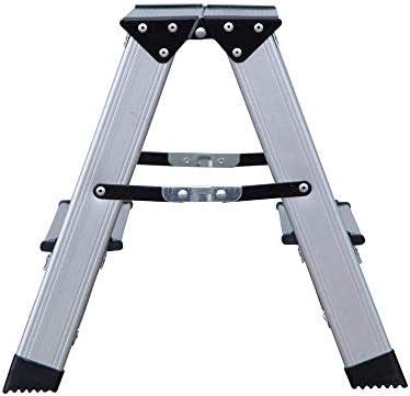 benson - Escalera Plegable Doble de Aluminio con 2 peldaños, Plegable, hasta 150 kg: Amazon.es: Deportes y aire libre