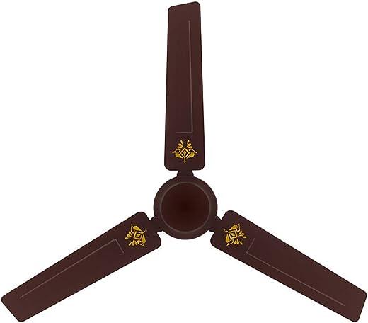 Crompton Surebreeze STYLE Decorative Ceiling Fan – 1200 mm (Crystal – Lustre Brown)