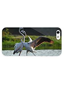 3d Full Wrap Case for iPhone 5/5s Animal Dancing Flamingos