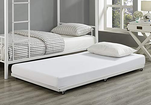 WE Furniture Twin Roll-Out ONLY Trundle for Bed Frame - White