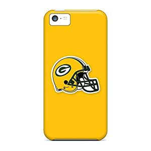 Anti-Scratch Hard Phone Cases For Apple Iphone 5c With Customized Lifelike Green Bay Packers 5 Skin JohnPrimeauMaurice