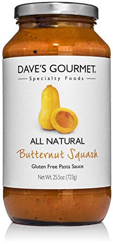 Dave's Gourmet Butternut Squash Pasta Sauce, Pack of 3 (All Gold Tomato Sauce)